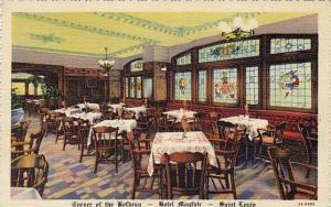 Missouri St Louis Hotel Mayfair Corner Of The Hofbrau Curteich