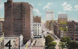 Michigan Detroit Griswold Street Looking South 1909