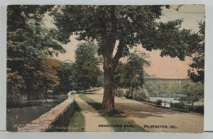 Delaware Brandywine Park Wilmington Del 1919 to Lancaster Postcard Q6