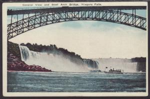 General View and Steel Arch Bridge,Niagara Falls,NY