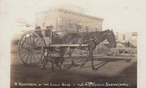 RP: SASKATOON , Saskatchewan , Canada , 1909 ; Horse Cart