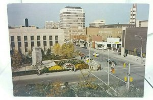 Vintage Postcard Downtown Area of Kitchener Ontario Canada  Posted 1980