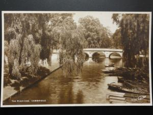 Cambridge: THE RIVER CAM Old RP Postcard By Walter Scott 140515