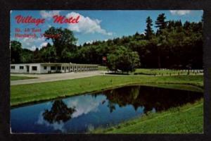 VT Village Motel & Pond HARDWICK VERMONT Postcard PC
