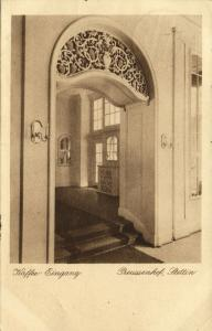 poland, SZCZECIN STETTIN, Preussenhof Hotel, Coffeehouse Entrance (1927)