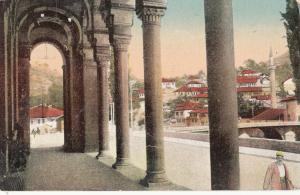 Bosnia Herzegovina Sarajevo town hall entrance early postcard