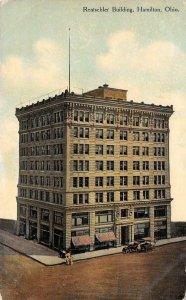 RENTSCHLER BUILDING Hamilton, Ohio Butler County c1910s Vintage Postcard