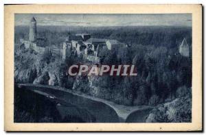 Old Postcard Hrad Zvikov Stok Vltavy S Otavou