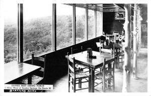 Eureka Springs Arkansas Hawks Nest Dining Porch Real Photo Postcard J51675