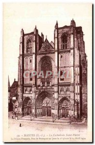 Nantes Old Postcard The cathedral St. Peter