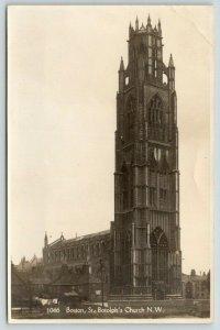 Boston Lincolnshire UK~St Botolph's Church~Laundry Line~c1910 RPPC