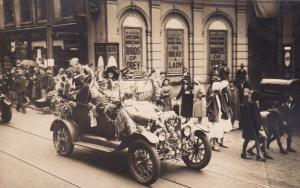 Norwich Norfolk Street Parade Spectacular Classic Car Real Photo Old Postcard