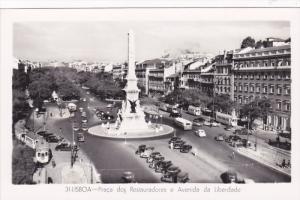 RP; LISBOA, Portugal; Praca dos Restauradores e Avenida da Liberdade, 1930s