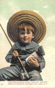Ilion NY Martin Automatic Fish Reel Co. Children Advertising Postcard set of (6)