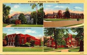 Ohio Columbus Capital University Multi View 1947 Curteich