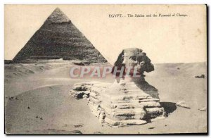 Postcard Ancient Egypt Egypt The Sphinx and the Pyramid of Cheops