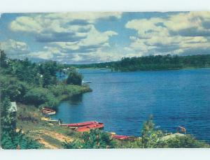 Pre-1980 ROWBOATS BY THE SHORELINE Postmarked St. Johnsbury Vermont VT AD6009