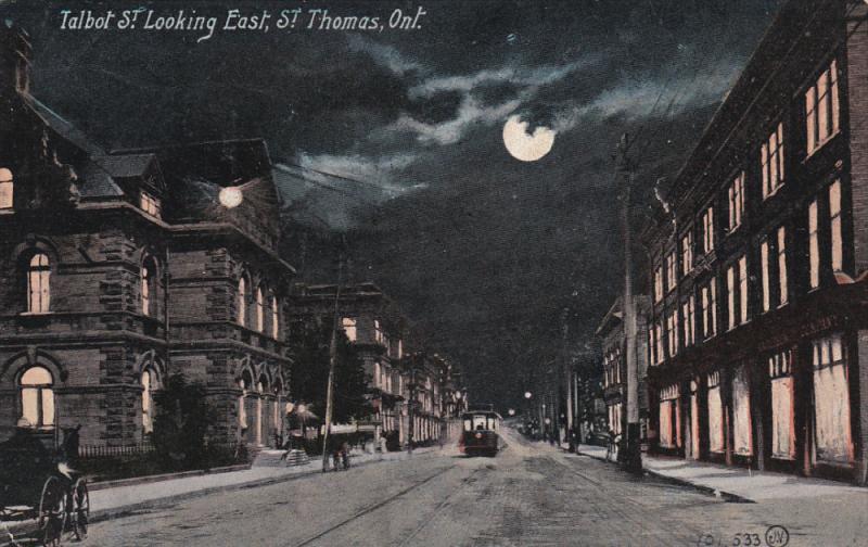 ST. THOMAS , Ontario , Canada , PU-1910 ; Talbot Street , looking East , at n...