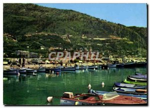 Modern Postcard The wonderful sites of the French Riviera Le Petit Port Mento...