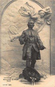 Switzerland Lausanne Monument du Major Davel Statue Postcard
