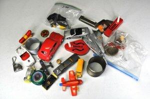 Lot of 20 + Vintage And Modern Toys Oscar Myer Slinky Harmonica Metal Cars