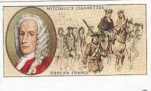 Mitchell Vintage Cigarette Card Famous Scots No 18 Duncan Forbes Of Culloden ...
