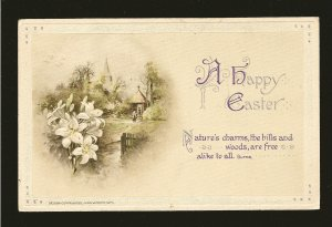 Postmark 1936 on C John Winson 1919 Embossed Easter Postcard