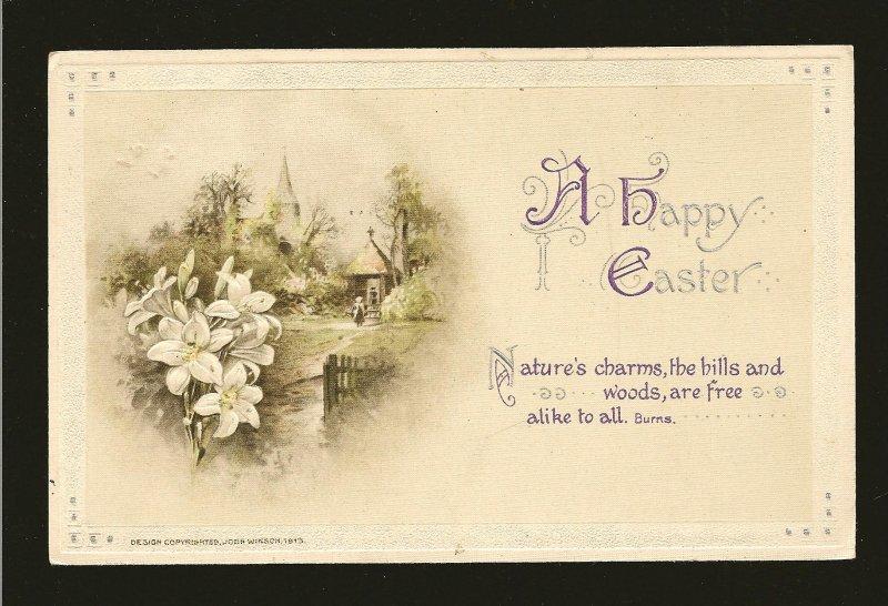 Postmark 1936 on C John Winson 1919 Embossed Easter Postcard
