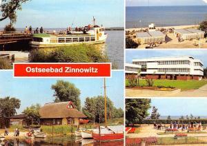 Ostseebad Zinnowitz, Am Achterwasser bootshafen Strand Minisportanlage Boats