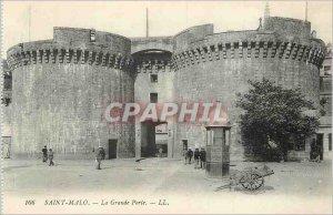 Postcard Old Saint Malo La Grande Porte