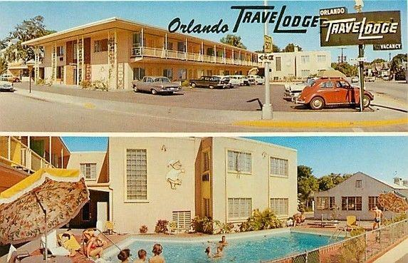 FL, Orlando, Florida, Travel Lodge, Multi View, Pool, 50s Cars, Dexter 36334-B