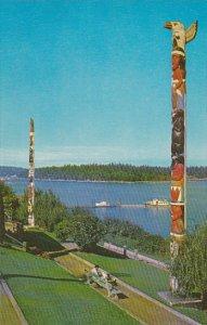 Canada Indian Totem Poles Georgia Park Nanaimo British Columbia