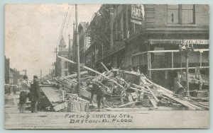 Dayton OH~Manos Gerard Hat Shop~Buehler~Damage After Easter Floods~1913