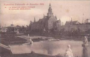 Belgium Bruxelles Exposition 1910 Le Bassin Jardin Francais Pavillon Neerlandais