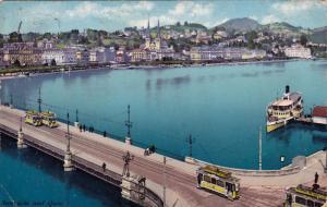 Seebrucke Und Quai, LUZERN, Switzerland, 1900-1910s