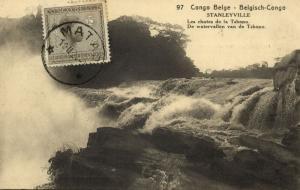 belgian congo, STANLEYVILLE, Waterfalls of Tshopo River (1924) Postcard (97)