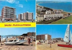 Spain Salou Playa La Pineda Playa Plage La Pineda Beach Boats