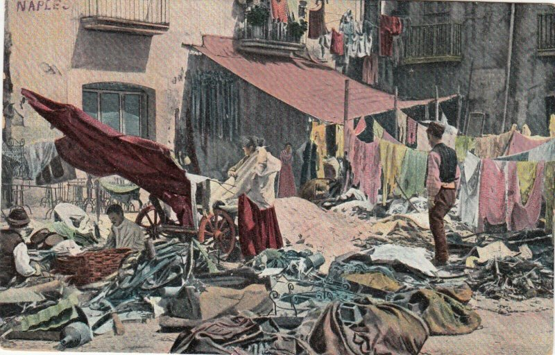 Naples , Italy , 00-10s ; People doing Laundry