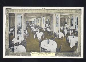 KANSAS CITY MISSOURI HOTEL MUEHLEBACH RESTAURANT INTERIOR VINTAGE POSTCARD