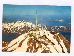 Les Pyrenees, Pic du Midi de Bigorre, TV tower, ANDORRA, PU-1977(Andorra Stamp)