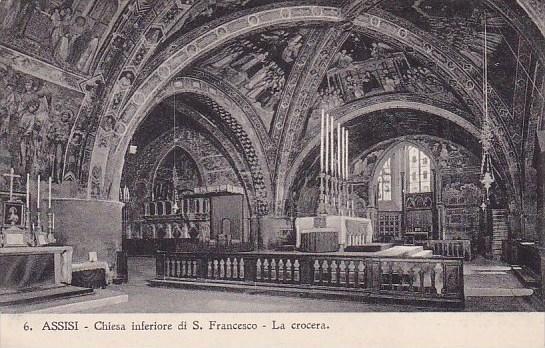 Italy Assisi Perugia Chiesa Inferiore Di Saint Francesco La Crocera