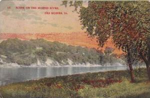 Scene on Des Moines River, Des Moines, Iowa, PU-1908