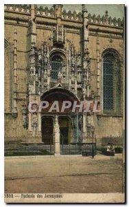 Old Postcard Fachada back Jeronymos Lisboa
