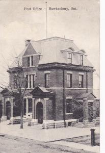 Post Office , HAWKESBURY , Ontario , Canada , PU-1908