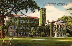 South Carolina Greenville Richard Furman Hall Furman University Curteich