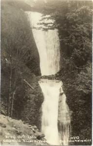 RPPC Bridal Veil falls, Columbia River Highway, Oregon, AZO 1910-1930