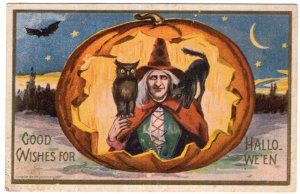 Good Wishes For Hallowe-en - Reproduction