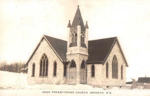 Baddeck Nova Scotia Canada view of Knox Presbyterian Church real photo pc Z28638