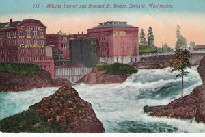 SPOKANE , Washington , 00-10s ; Milling District & Howard Street Bridge