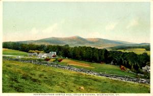 VT - Wilmington. Haystack from Castle Hill, Child's Tavern